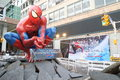 Spider man movie promotion in hong kong Stock Image