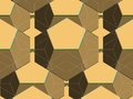 Spider net line geometric brown kaleidoscope vector illustration Stock Images