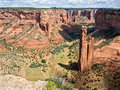 Spider Rock, centerpiece in Canyon de Chelly Royalty Free Stock Photo