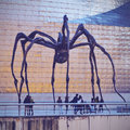 Spider sculpture in bilbao maman by the artist louise bourgeois front of the guggenheim museum biscay basque country spain Royalty Free Stock Photography