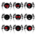 Spider set for Halloween Stock Images