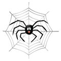 Spider and spiderweb Stock Image