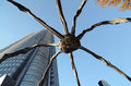 Spider statue the symbol of roppongi hills tokyo japan Stock Photos