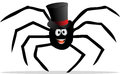 Spider with a tophat cartoon illustration of Stock Photo