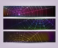 Spider web banners Royalty Free Stock Photography