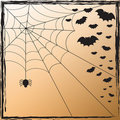 Spider Web and Bats Royalty Free Stock Photos
