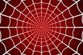 Spider web. Cobweb on Red background. Vector illustration Royalty Free Stock Photo