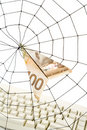 Spider Web and dollar Royalty Free Stock Photography