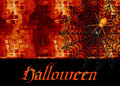 Spider Web Halloween Background Stock Image