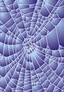 Spider web or hole in the glass Royalty Free Stock Photography
