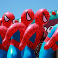 Spiderman dummies Royalty Free Stock Image