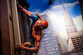 Spiderman Marvel comics in Madame Tussauds Wax museum in Amsterdam, Netherlands Royalty Free Stock Photo