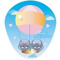 Spiders in a balloon funny are flying pink Royalty Free Stock Photography