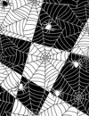 Spiders in web Royalty Free Stock Image