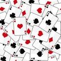 Spielkarten mit dem nahtlosen muster von vier assen Lizenzfreie Stockfotos