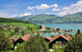 Spiez,lake thun Royalty Free Stock Photography