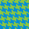Spiky zigzag houndstooth variation of the pattern with a in trendy blue and green Royalty Free Stock Photos