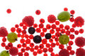 Spilled  berries Stock Images