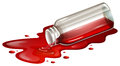 A spilled blood sample illustration of on white background Stock Photo