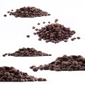 Spilled coffee beans texture the photograph was taken from above Royalty Free Stock Photography
