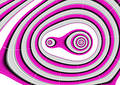 Spin around pink purble Royalty Free Stock Photo