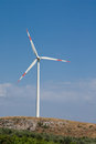 Spin on a hill wind turbine to generate energy in sicily Stock Images