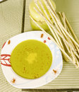 Spinach cream soup Royalty Free Stock Photo