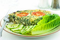 Spinach and feta cheese quiche Royalty Free Stock Photography