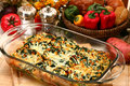 Spinach Feta Strata Royalty Free Stock Image
