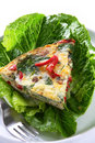 Spinach Frittata Royalty Free Stock Photo