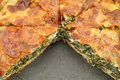 Spinach pie ( spanakopita ) Stock Image