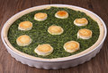 Spinach quiche Stock Image