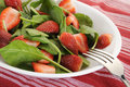 Spinach salad fresh with strawberries Stock Photography