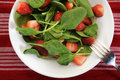 Spinach salad fresh with strawberries Royalty Free Stock Photo