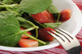 Spinach salad fresh with strawberries Royalty Free Stock Images