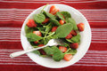 Spinach salad fresh with strawberries Royalty Free Stock Photography