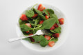Spinach salad fresh with strawberries Stock Photo