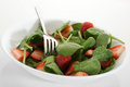 Spinach salad fresh with strawberries Royalty Free Stock Photos