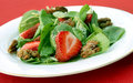 Spinach and Straberry Salad Royalty Free Stock Images