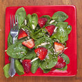 Spinach Strawberry Salad Royalty Free Stock Images