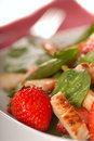 Spinach and strawberry salad Royalty Free Stock Image