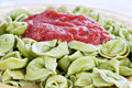 Spinach Tortellini Royalty Free Stock Photo