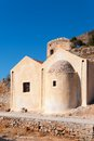 Spinalonga fortress church old island crete greece Royalty Free Stock Photography