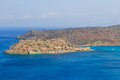 Spinalonga from the Hills Stock Image