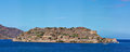 Spinalonga island panoramic view of crete greece Stock Images