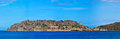 Spinalonga island panoramic view of crete greece Stock Photos