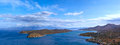 Spinalonga island panoramic view of and mirabello bay crete greece Stock Photography