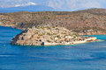 Spinalonga island view of crete greece Royalty Free Stock Image