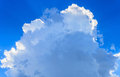 Spindrift cloud on blue sky background a sunny day against the clear Stock Image
