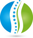 Spine and circle, physiotherapy and naturopaths logo